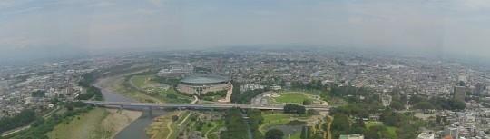 群馬県庁展望ホールからの眺望